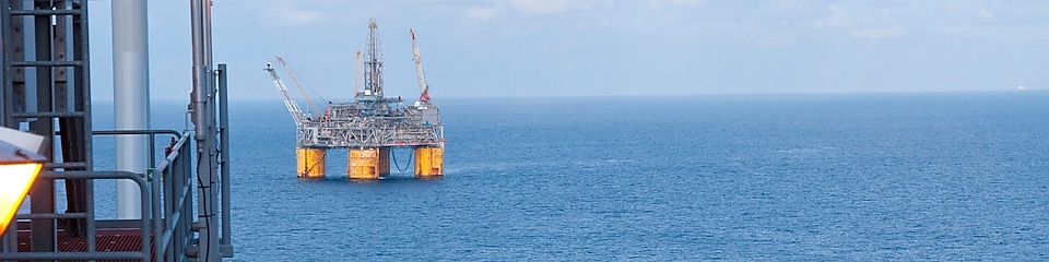 Offshore deep-water floating platform in the Gulf of Mexico