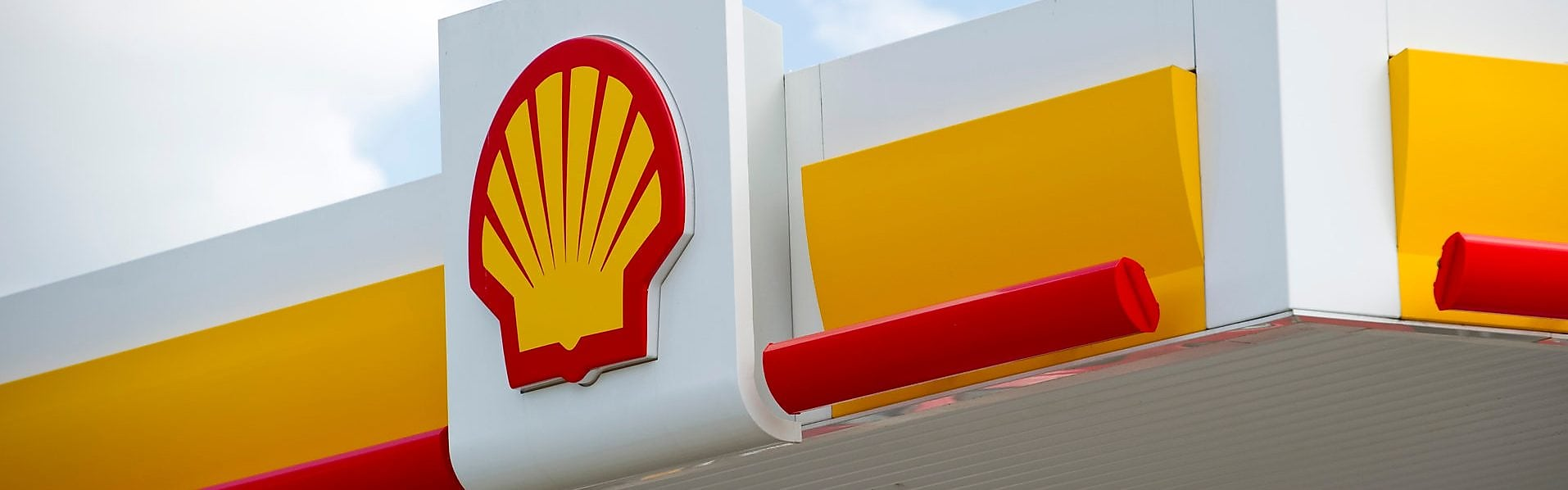 Shell service station and Shell logo